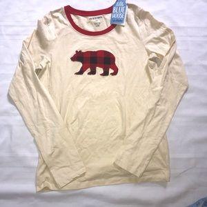 S NWT Hatley Bear Shirt plaid tee